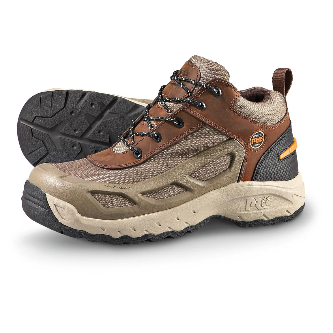 Men S Timberland Pro 174 Endurance Safety Toe Brown Gray