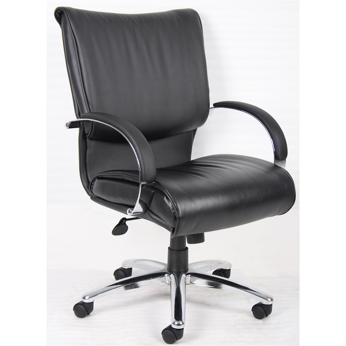 Boss® Executive Mid-back Leather Chair