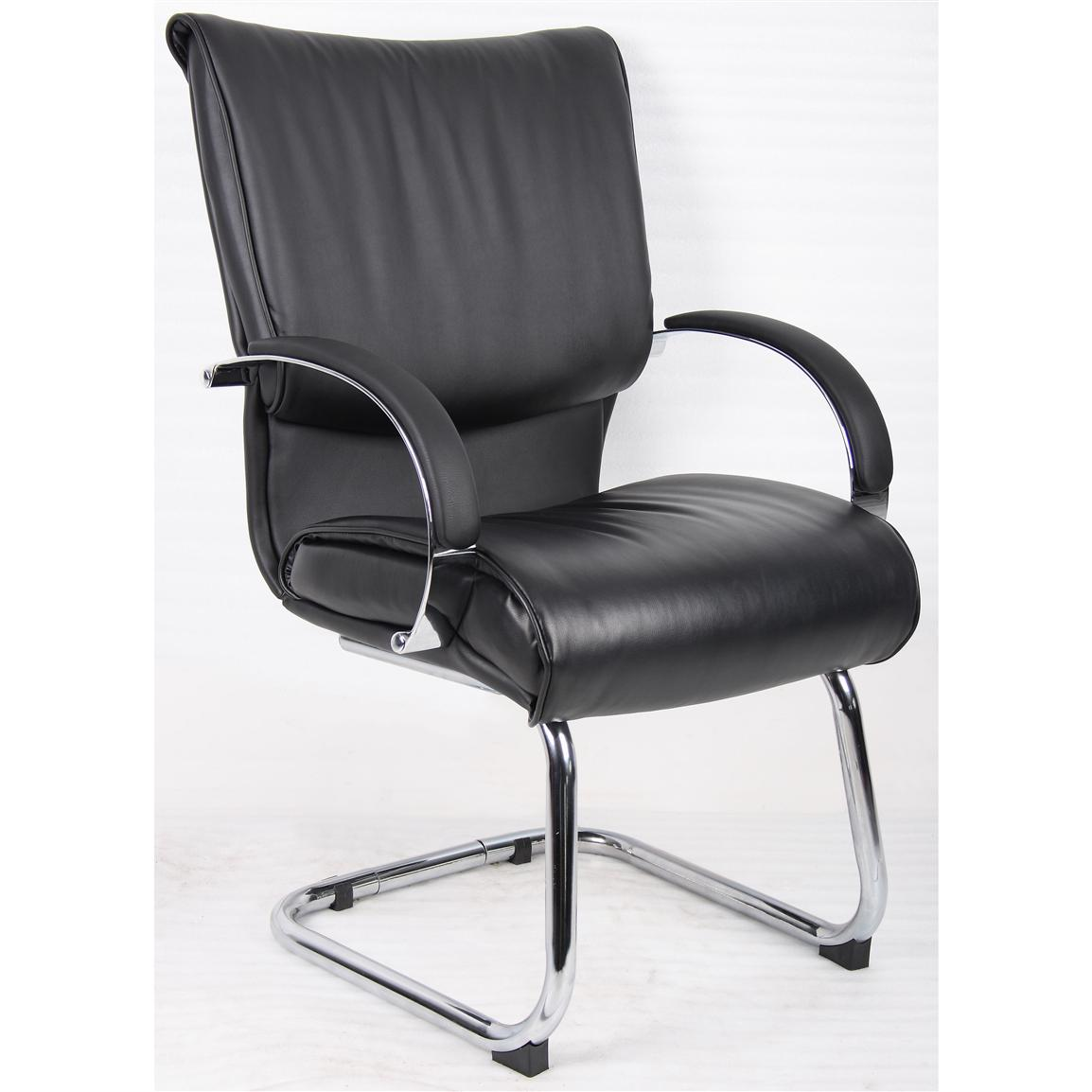 Boss® Executive Mid-back Leather Guest Chair