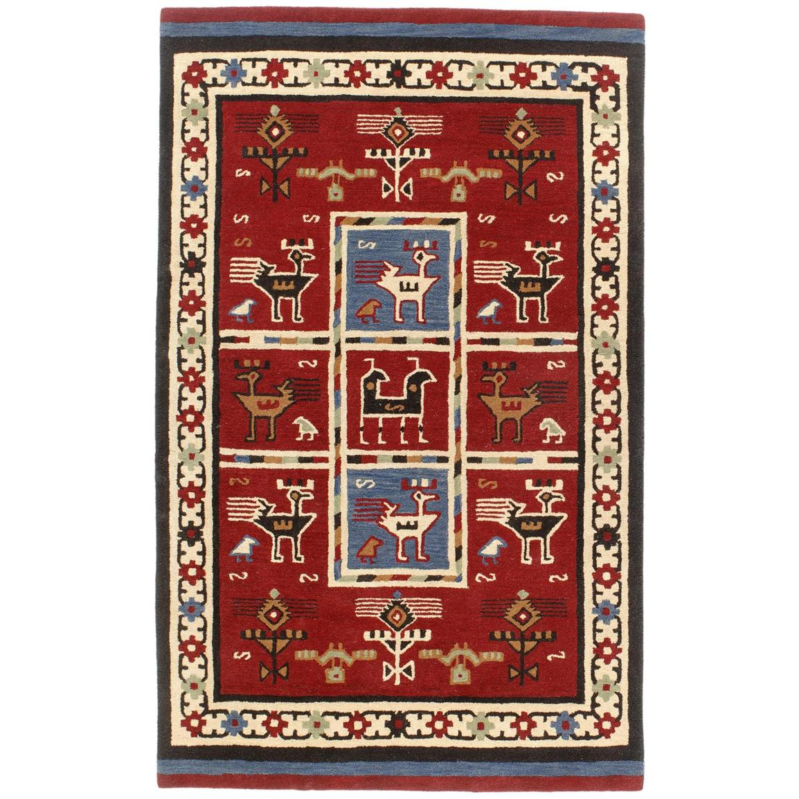 Handmade Wool Tribal Rug 4x6 169001 Rugs At Sportsman
