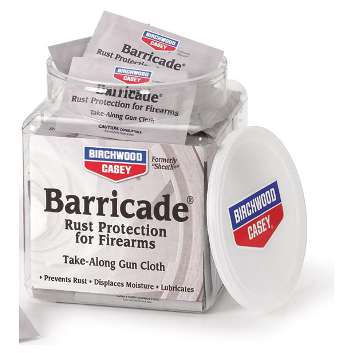 Birchwood Casey® Barricade® Rust Protection for Firearms, Take-Along Cloths