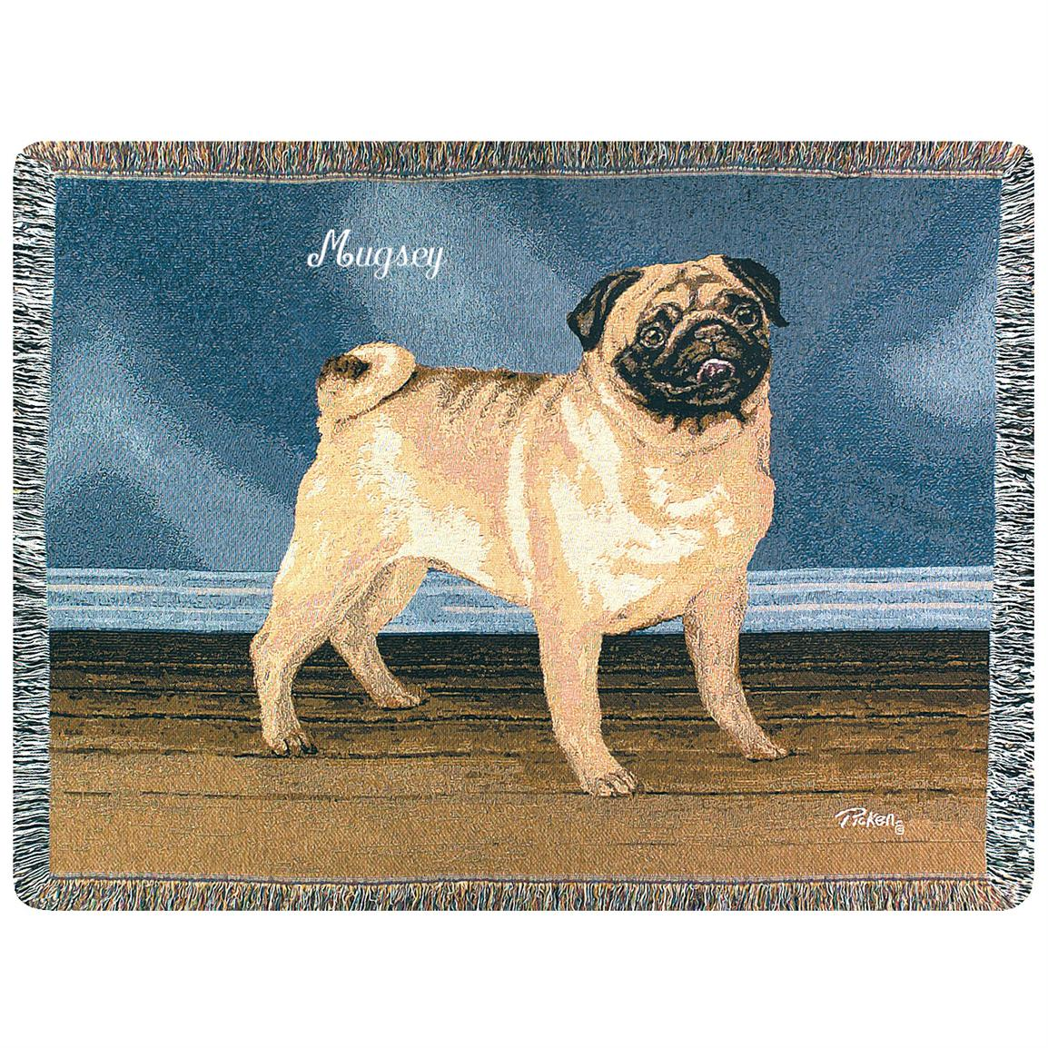 A Plus® Personalized Pug Throw