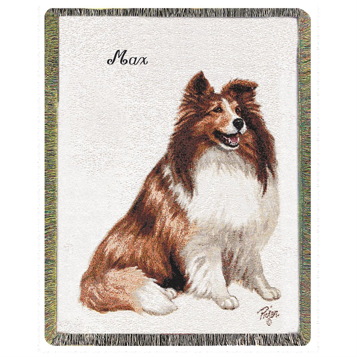 A Plus® Personalized Sheltie Throw