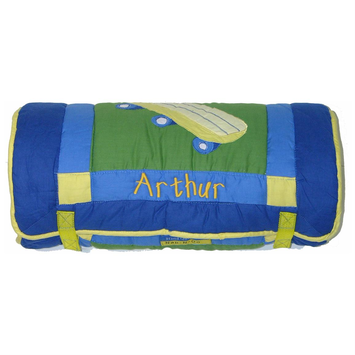 A Plus® Personalized Blue Nap Roll