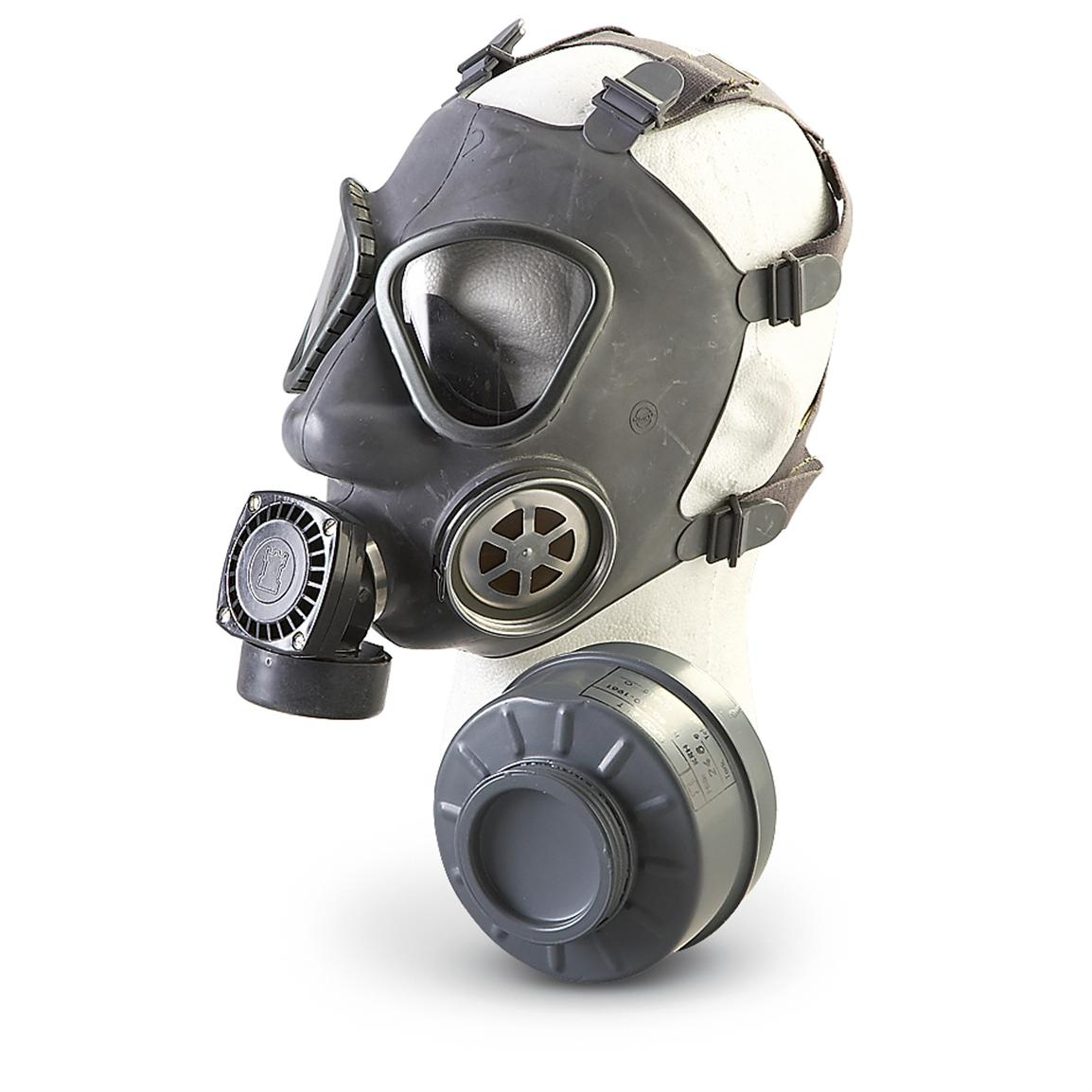 New Finnish Military Surplus Gas Mask with Bag