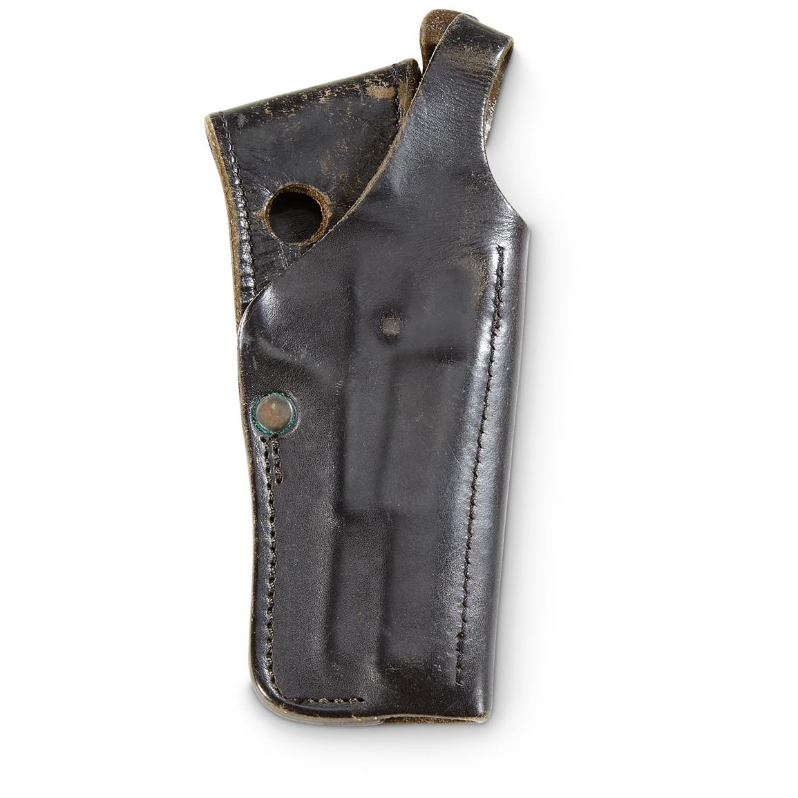 Used Belgian Military Surplus FN Holster, Black