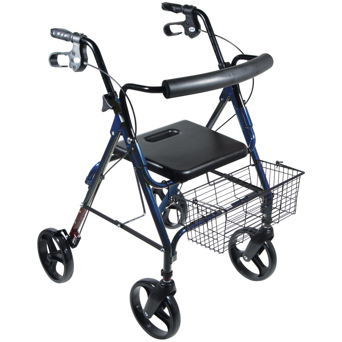 "D-Lite Aluminum Rollator with 8"" Casters, Loop Locks and Tool-free Removable Wheels"