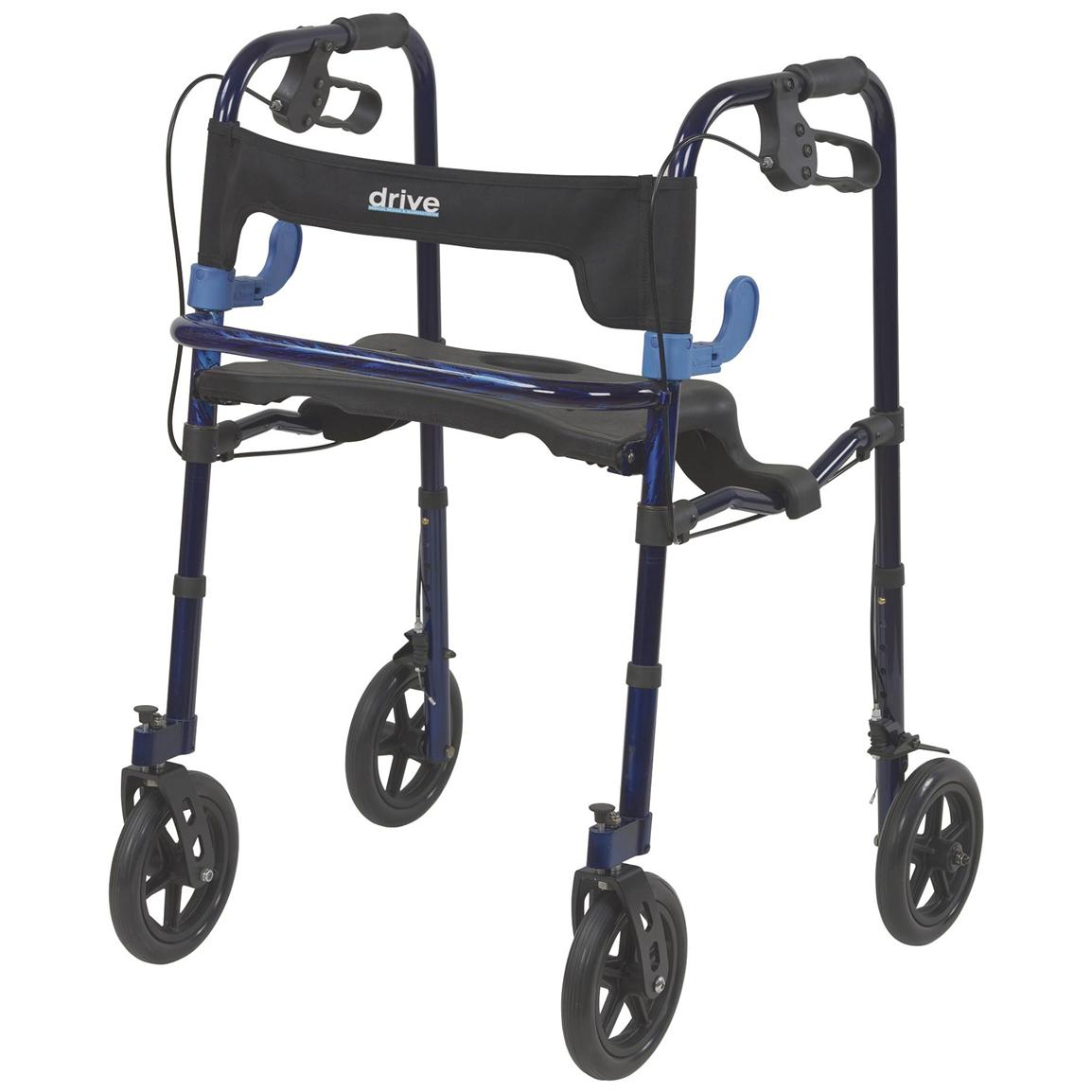 "Clever Lite Walker with 8"" Large Wheels"