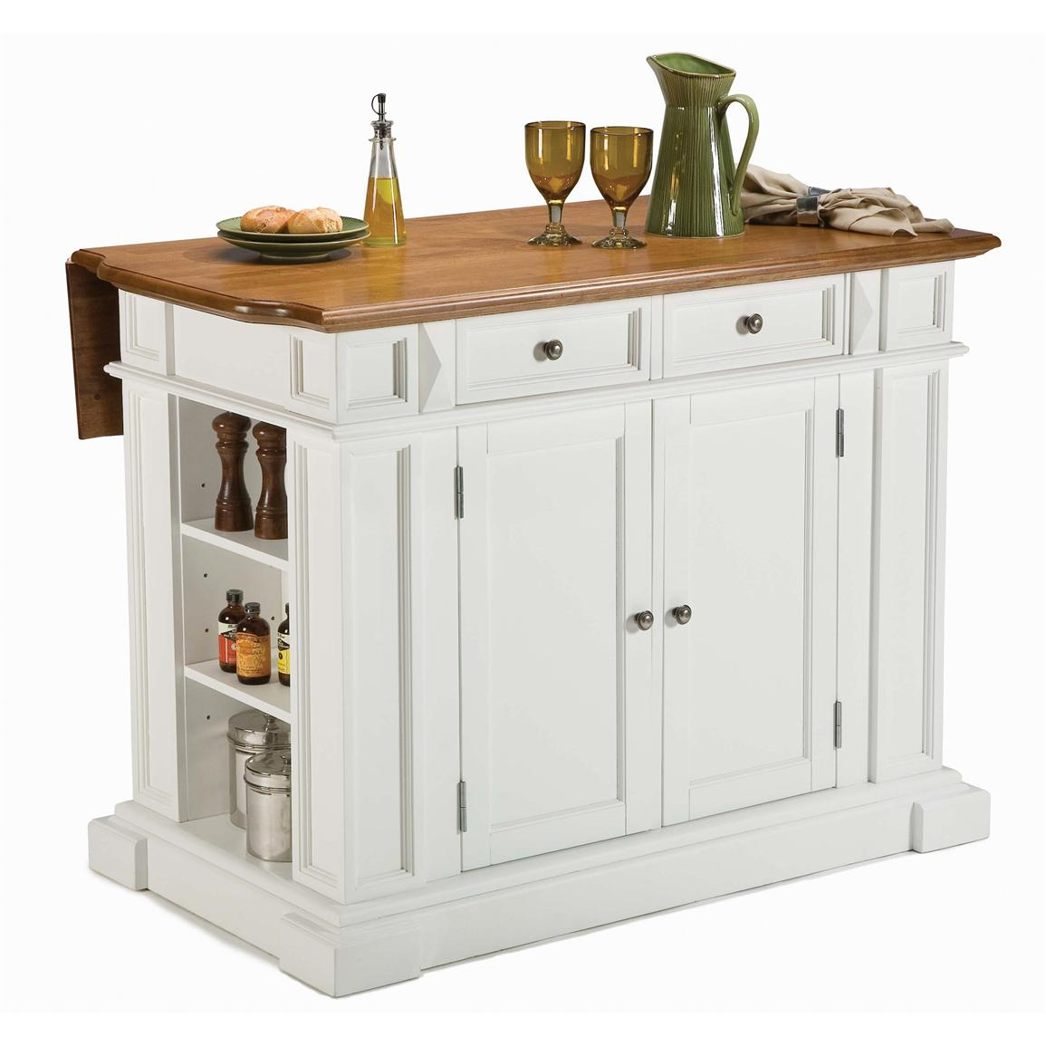 Home styles kitchen island with breakfast bar 172165 kitchen dining at sportsman 39 s guide - Mobile kitchen island plans ...
