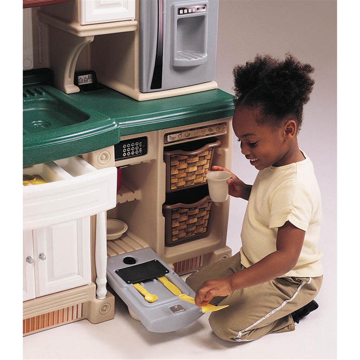 Make sure this fits by entering your model number.; The kids kitchen playset toy comes with six realistic electronic features that enhance interactive play such as microwave, stainless steel oven, dishwasher, stove top, cordless telephone and overhead light.