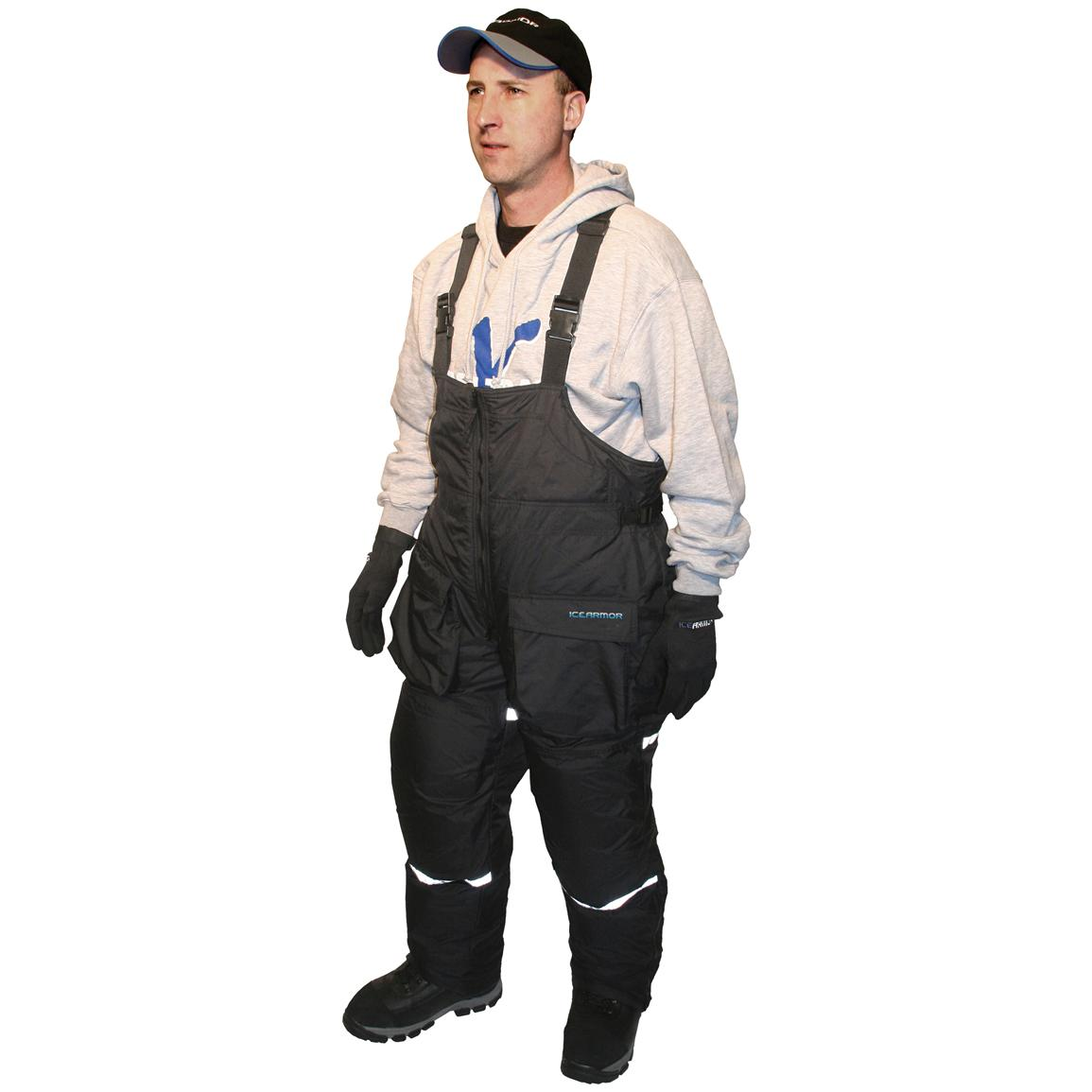 Clam ice armor insulated bibs 173173 ice fishing for Ice fishing clothing