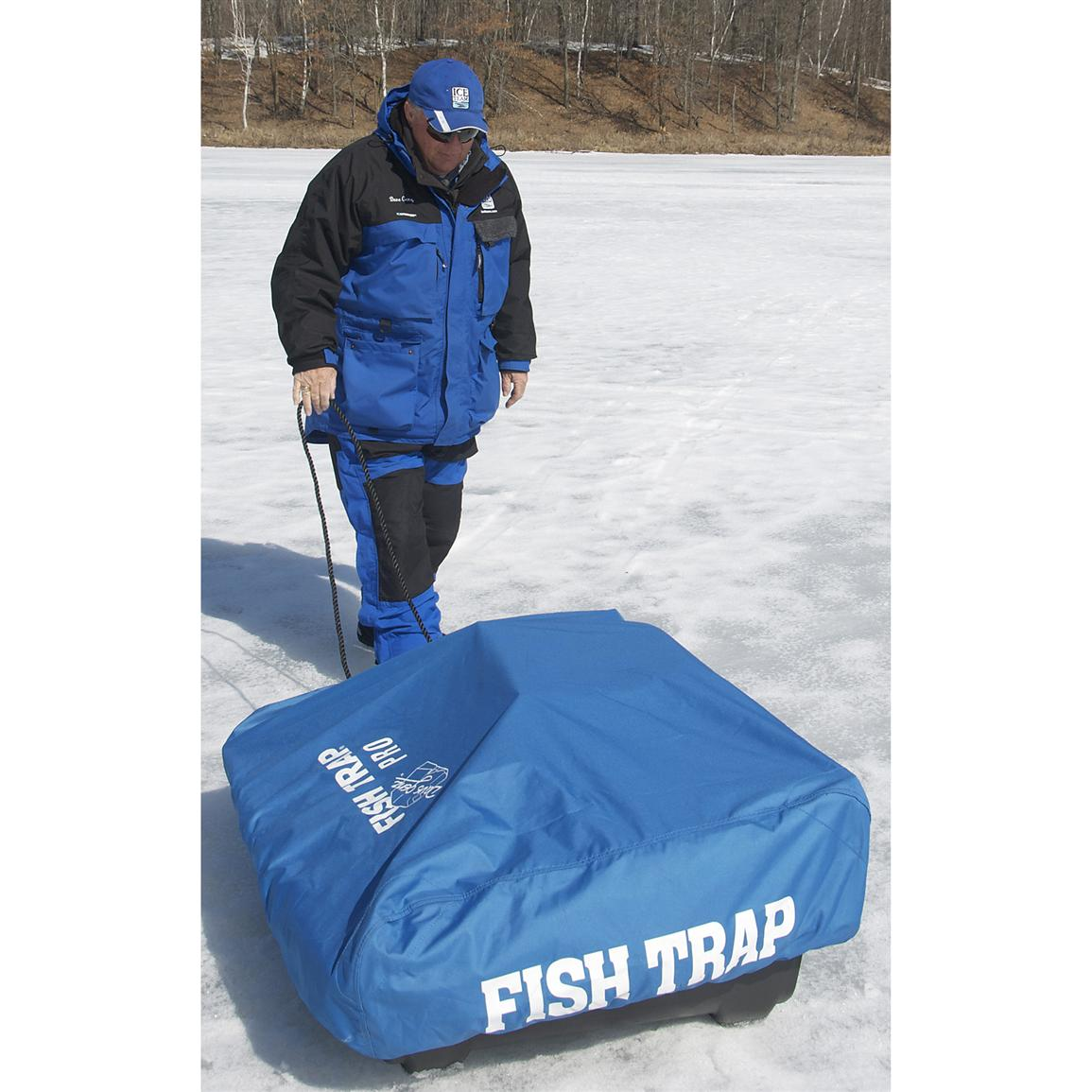Clam fish trap travel cover pro 173297 ice fishing for Ice fishing gear list