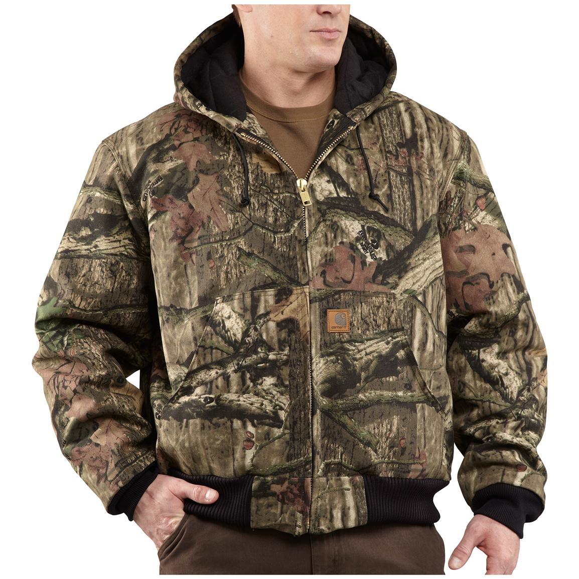 Carhartt WorkCamo Quilted Flannel-Lined Active Jacket, Mossy Oak Break-Up Infinity