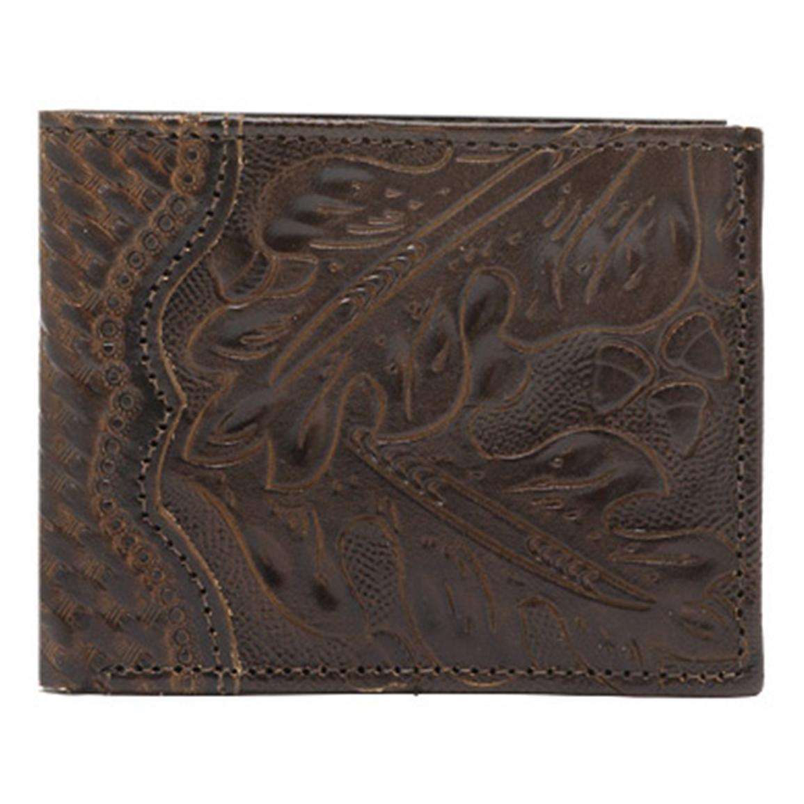 American West® Bi-Fold Leather Wallet, Chocolate Brown