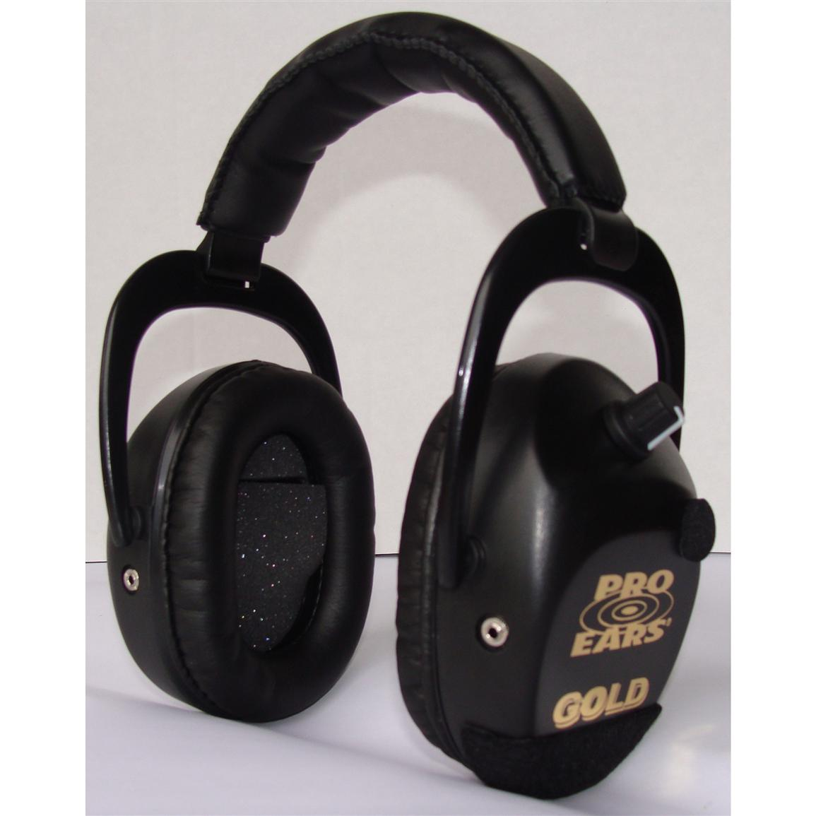 Pro Ears® Sporting Clay Gold Hearing Protection and Amplification Ear Muffs, Black