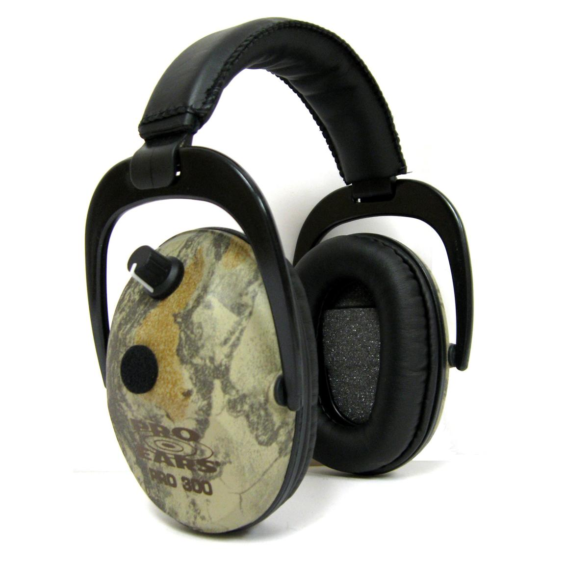 Pro Ears® Camo Pro 300 Hearing Protection and Amplification Ear Muffs, Camo