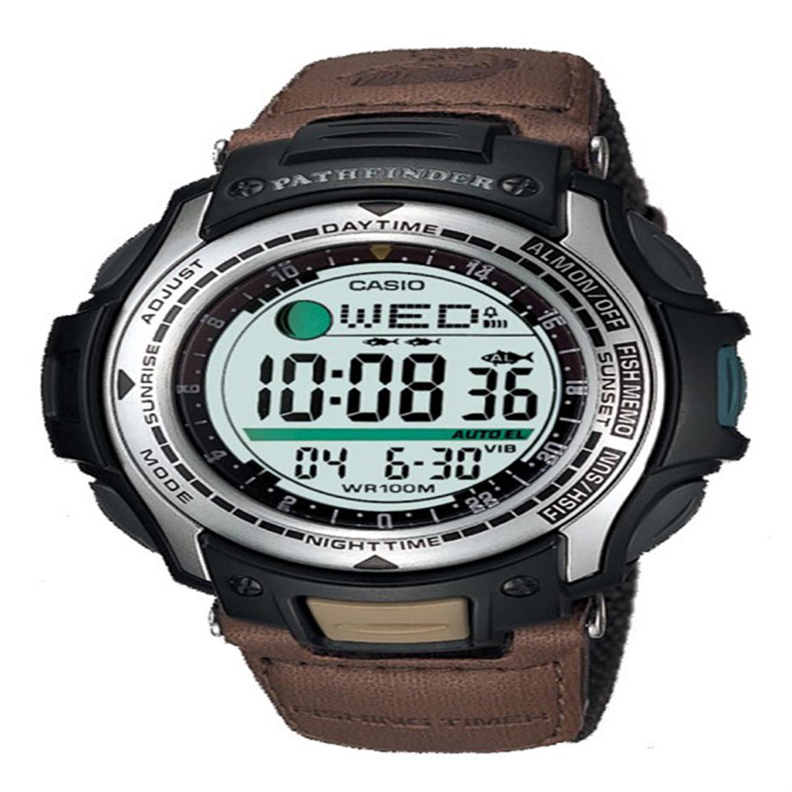 Men's Casio® Pathfinder Moon Phase Fishing Watch
