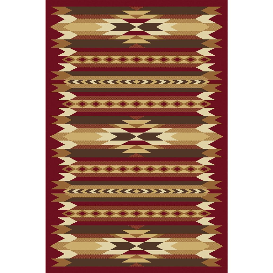 Orian® Painted Desert Rug, Rouge