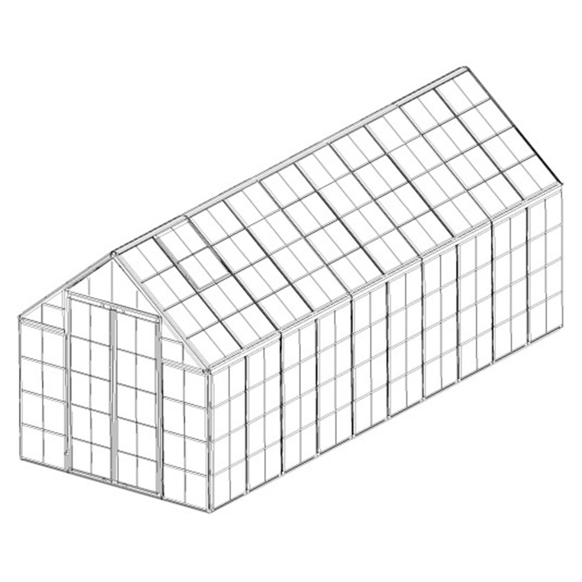 Poly-Tex® Snap & Grow 8x20' Hobby Greenhouse