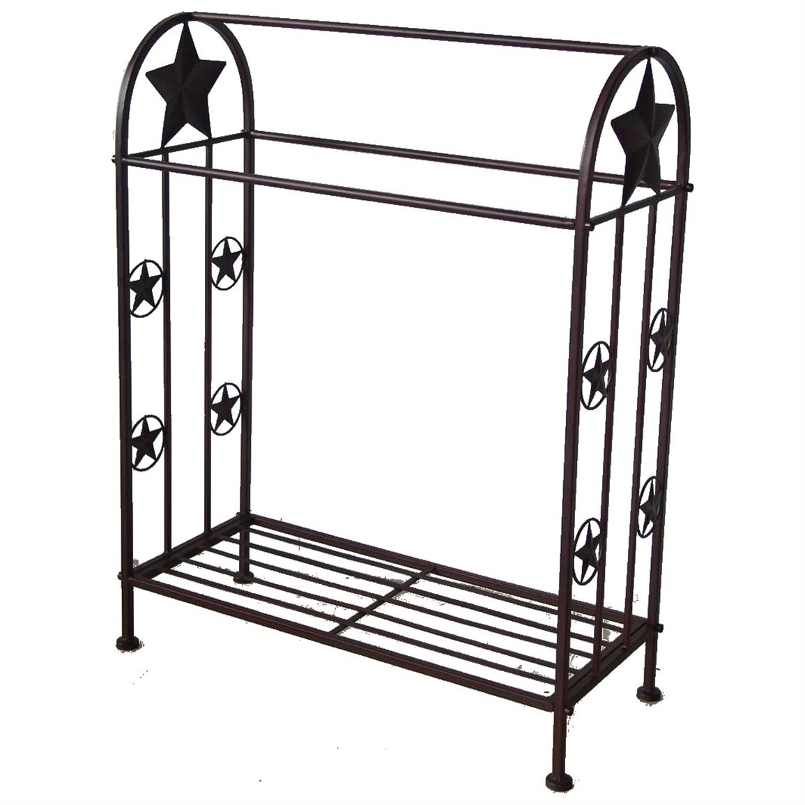 DeLeon Collections Metal Quilt Rack with Star Design