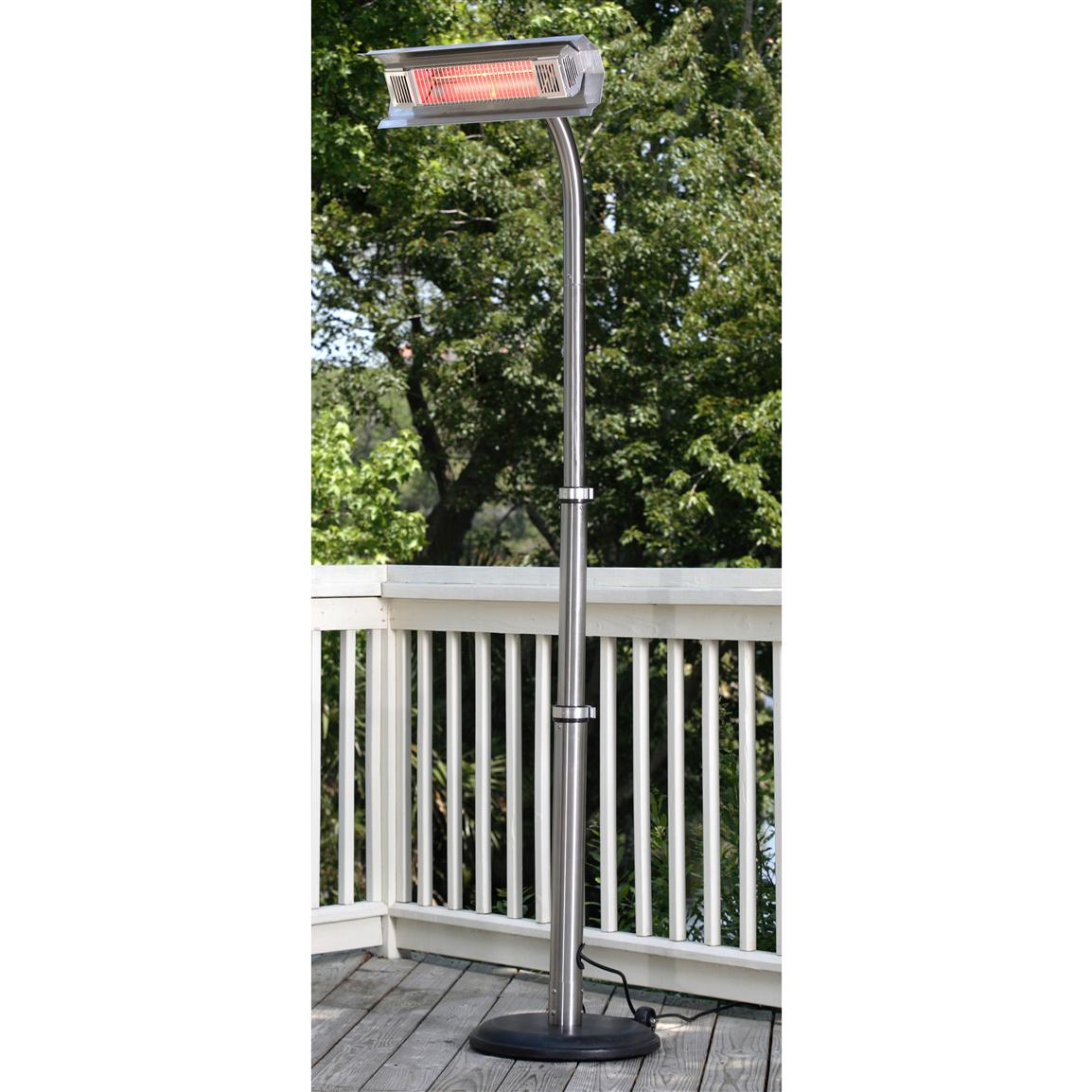 Fire Sense Stainless Steel Telescoping Offset Pole-mounted Infrared Patio Heater