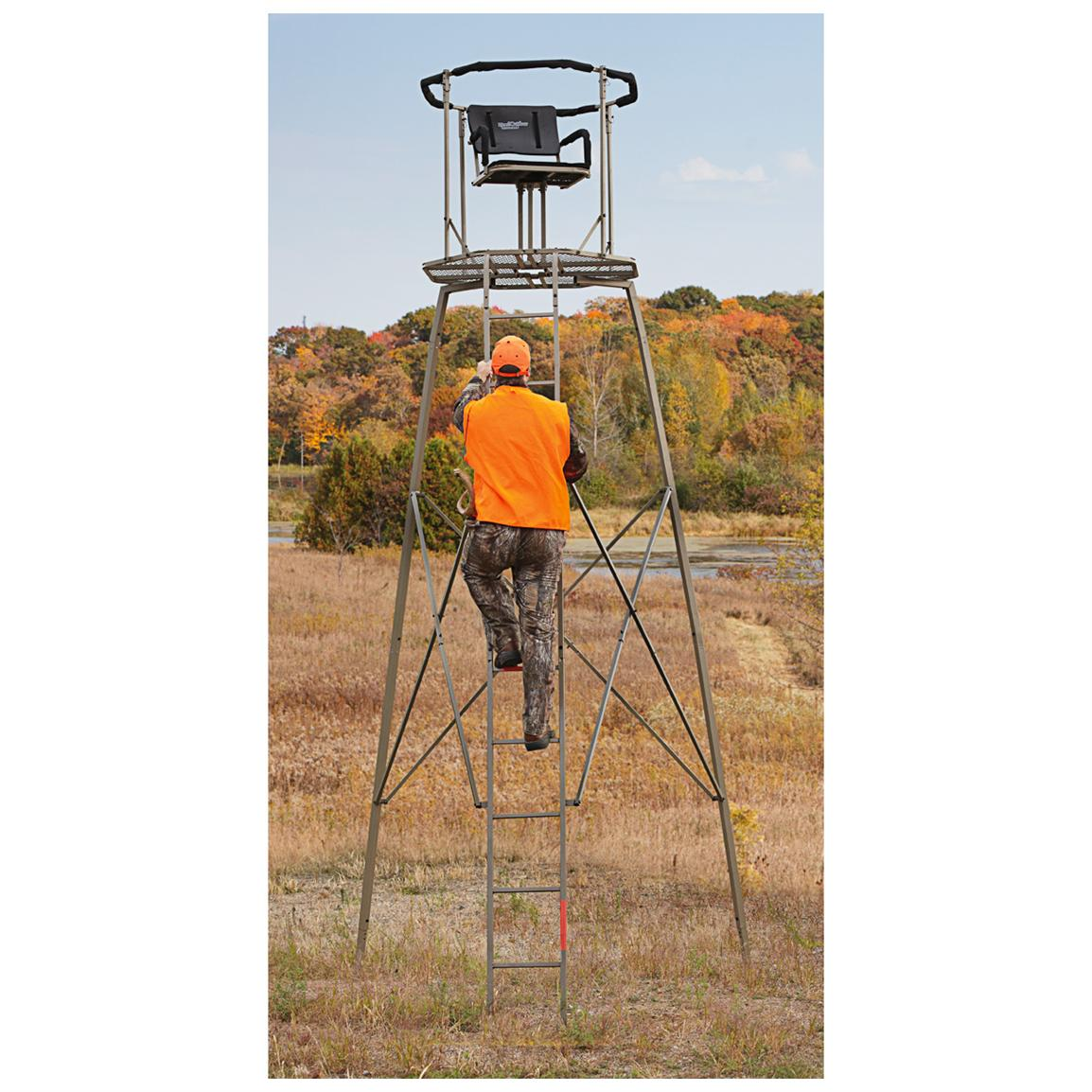 Guide Gear 15 foot Woodsman Rotating Tripod Deer Stand