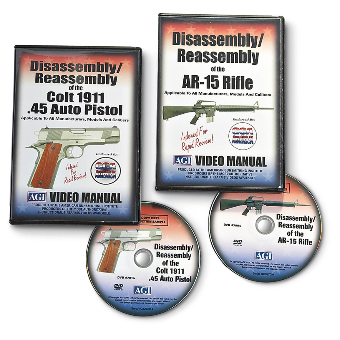 American Gunsmithing Institute Disassembly / Reassembly DVD Manual