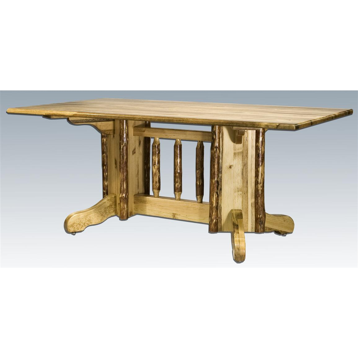 Montana Woodworks® Glacier Country Double Pedestal Dining Table