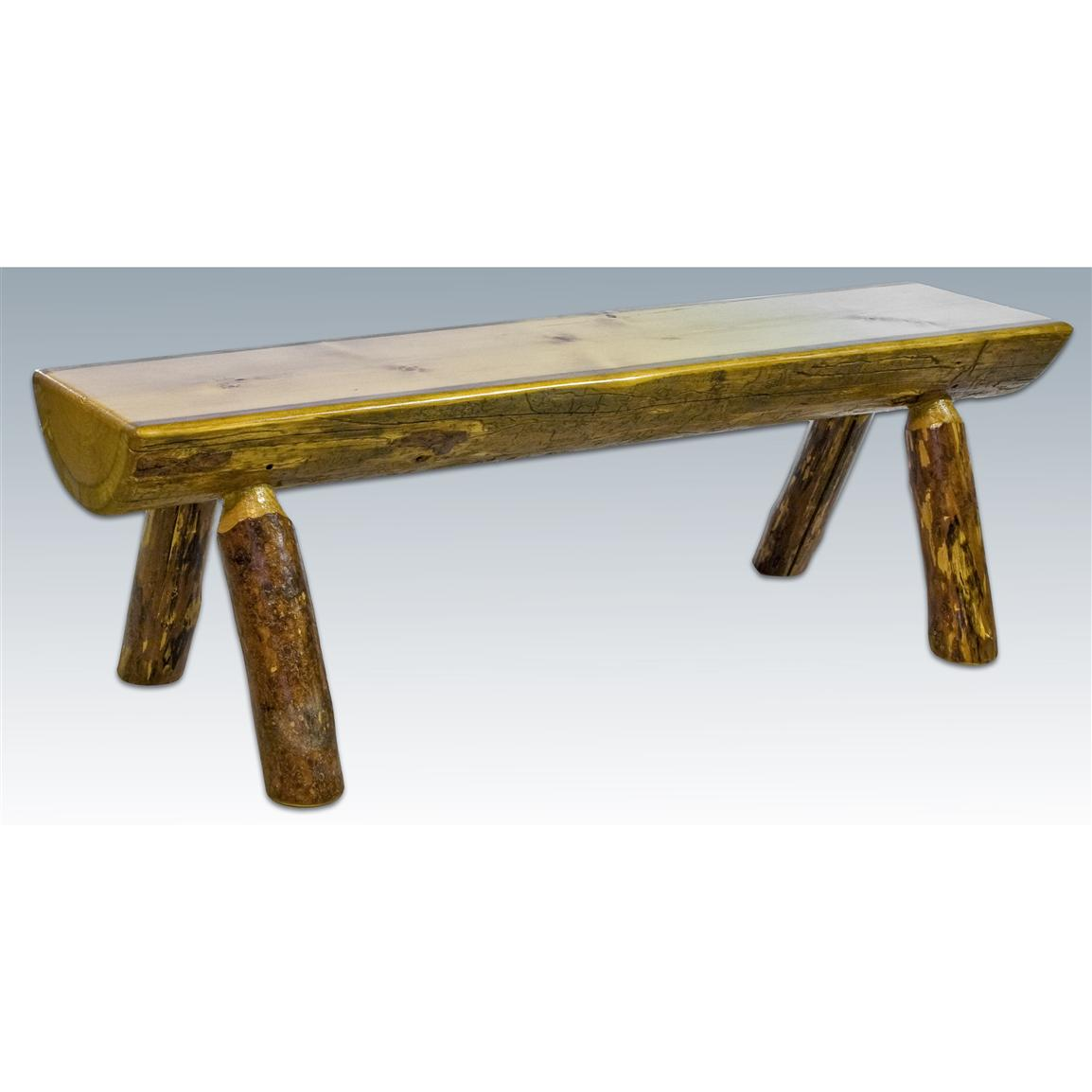 Montana Woodworks® Glacier Country Half Log Bench