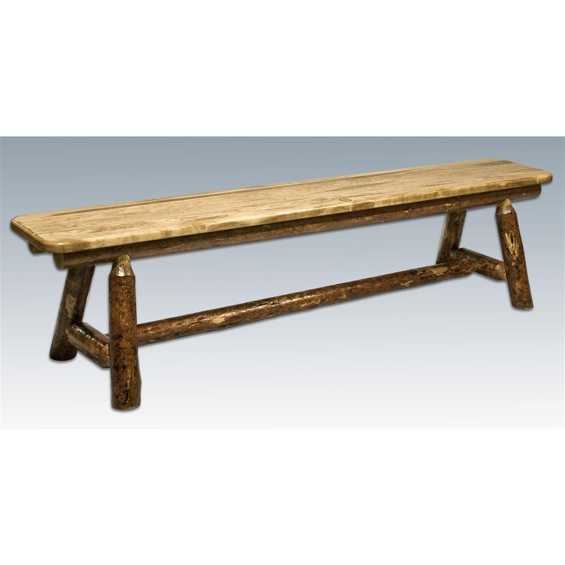 Montana Woodworks® Glacier Country Plank-style Bench