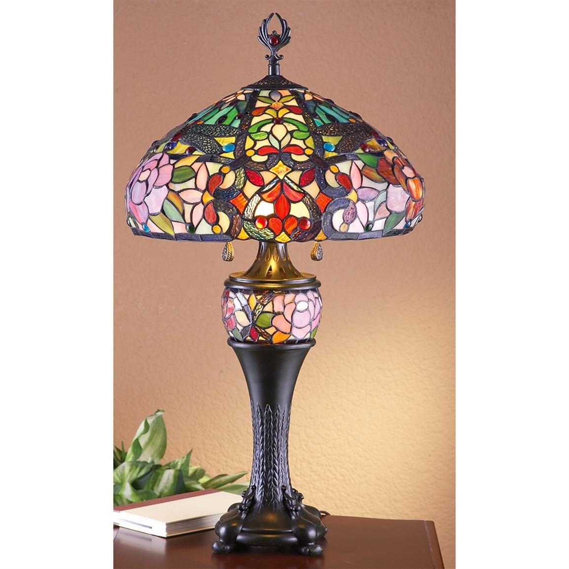 J.J. Peng® Stained Glass Tiffany Style Table Lamp