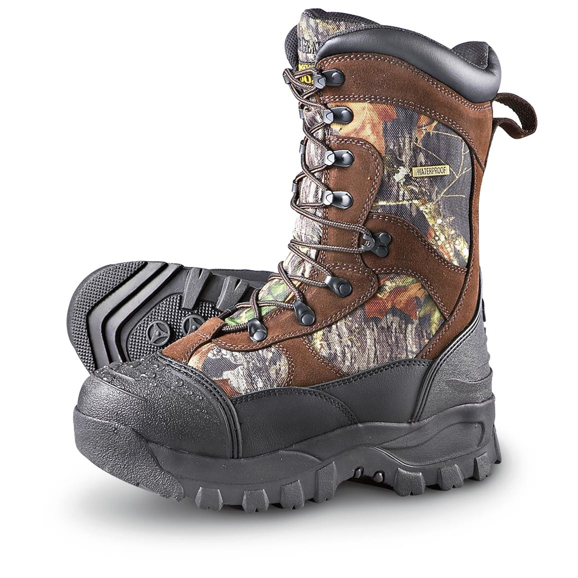 Guide Gear Men's Monolithic Hunting Boots, Insulated, Waterproof, Mossy Oak Break-Up