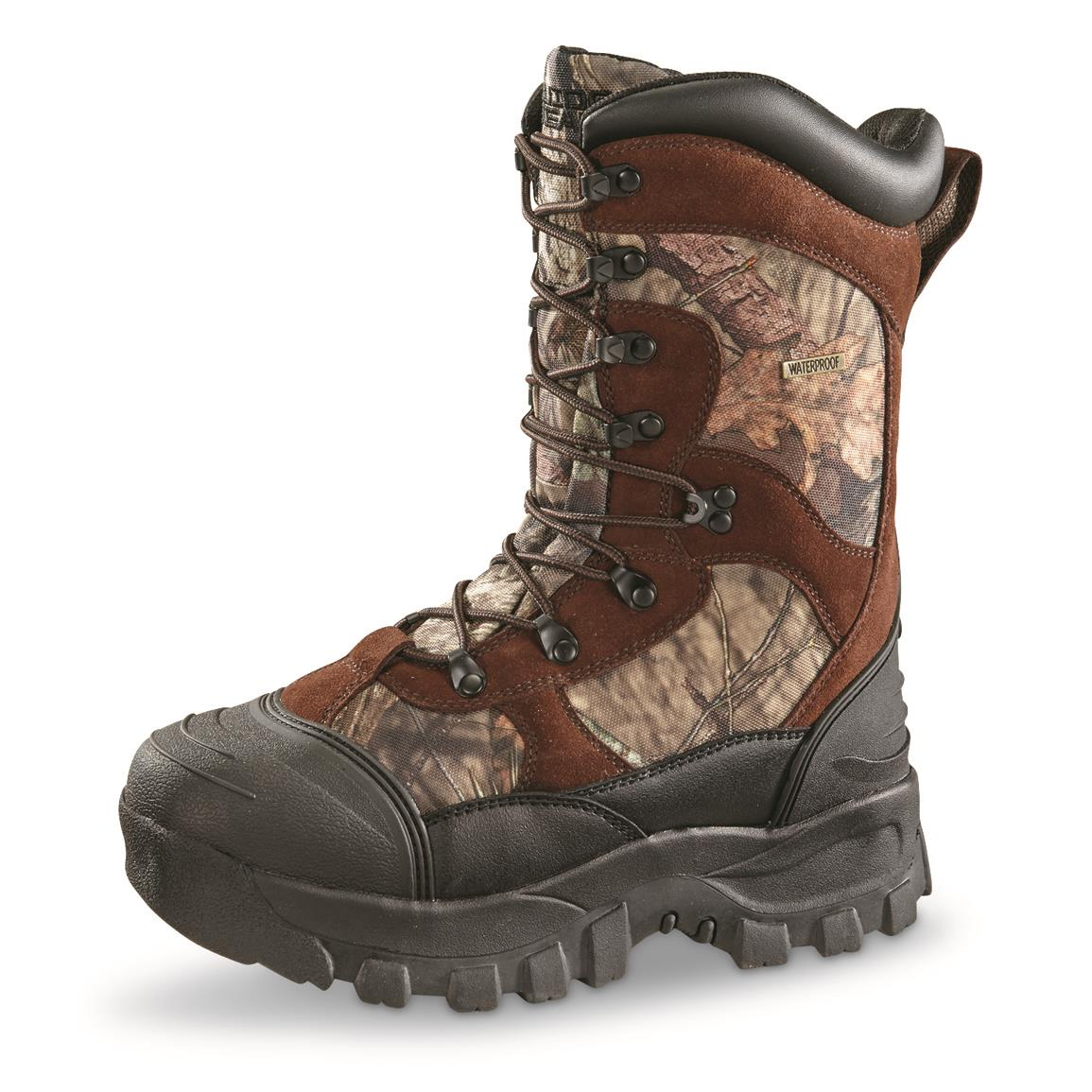 Guide Gear Men's Monolithic Hunting Boots, Insulated, Waterproof, 2,400 grams, Realtree Xtra Brown