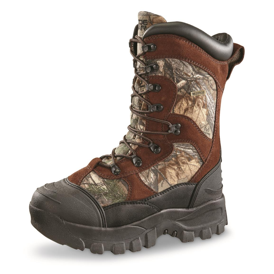 Guide Gear Men's Monolithic Hunting Boots, Insulated, Waterproof, Realtree Xtra Brown