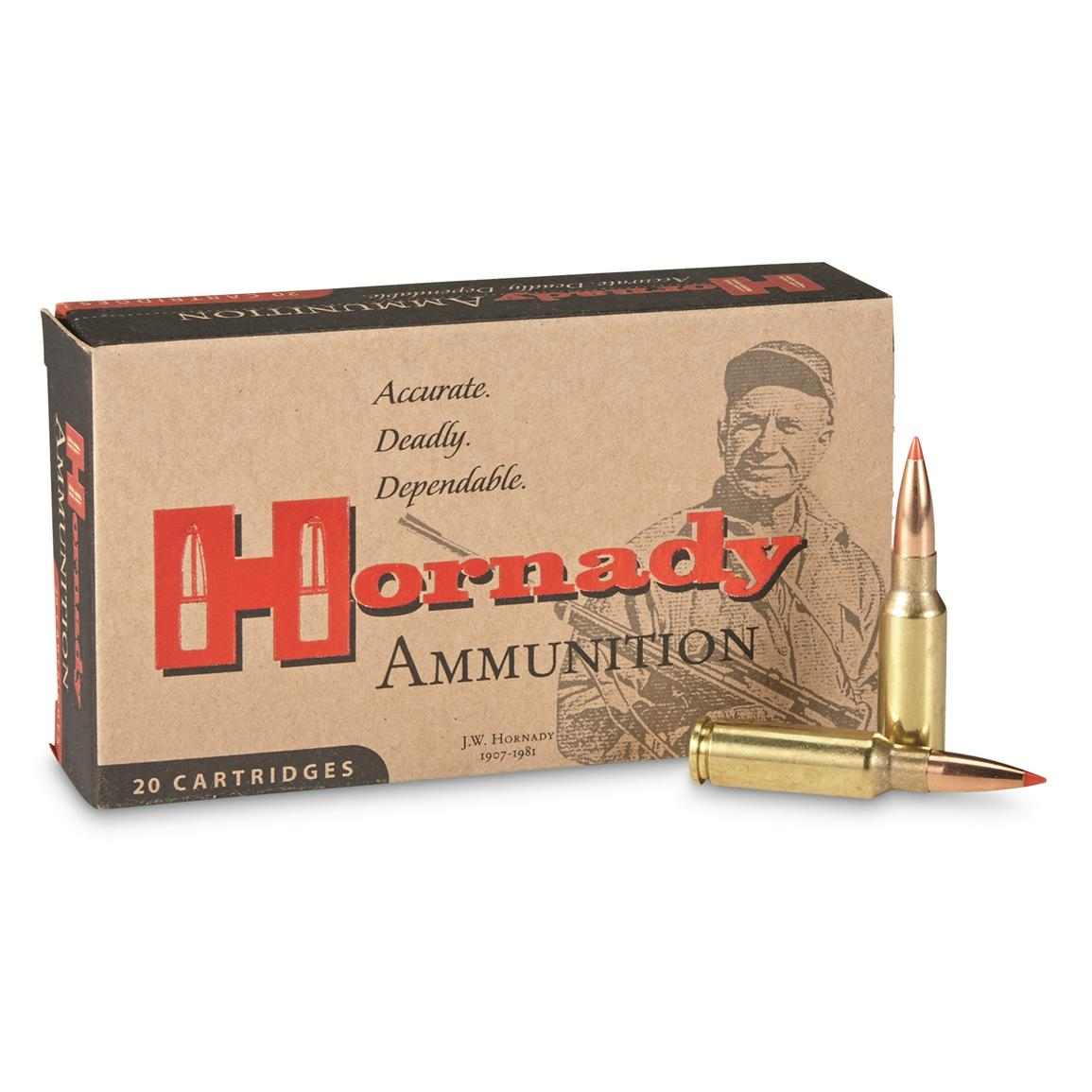 Hornady Interlock Rifle, 6.5 Grendel, A-MAX, 123 Grain, 20 Rounds