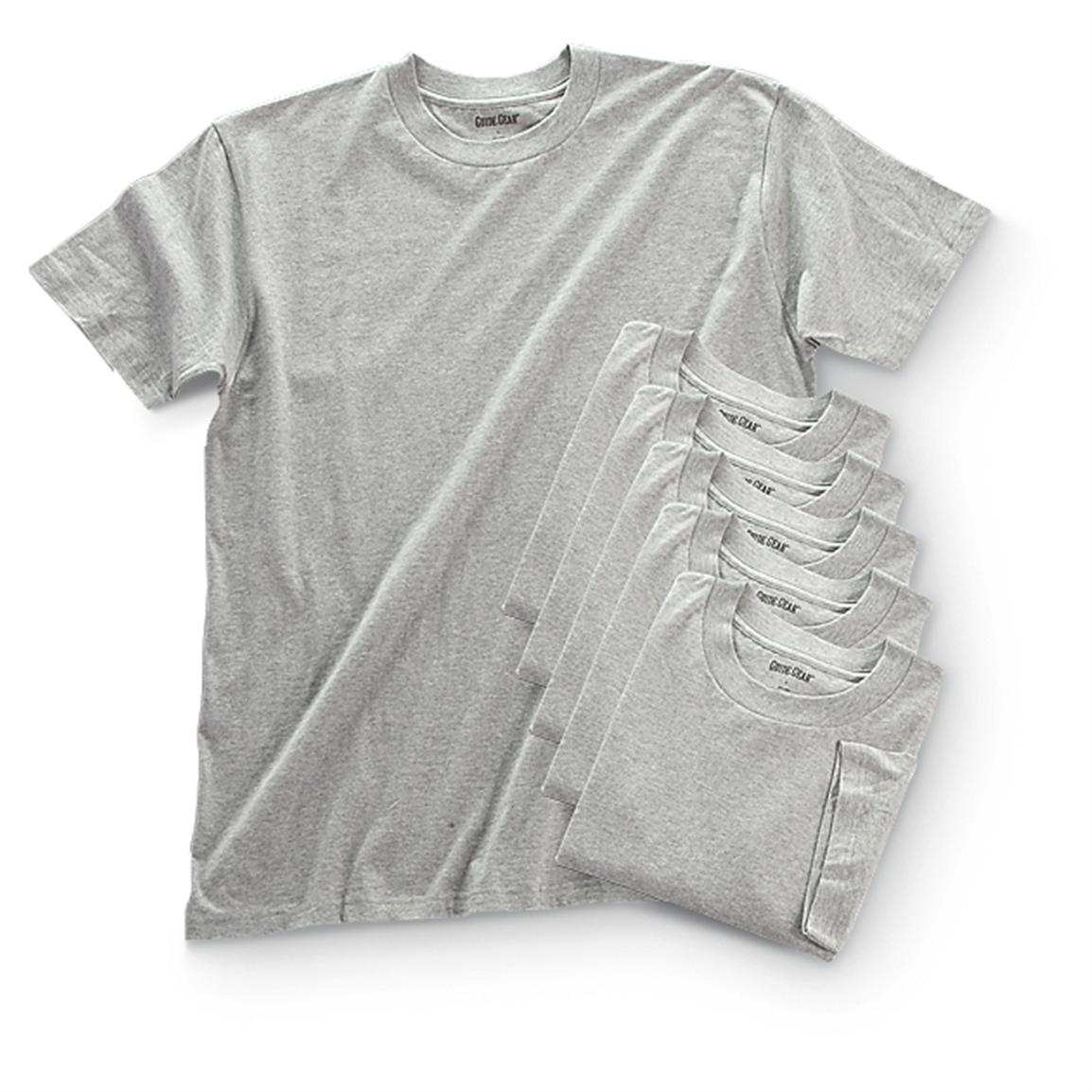 6 Guide Gear® T-shirts, Gray
