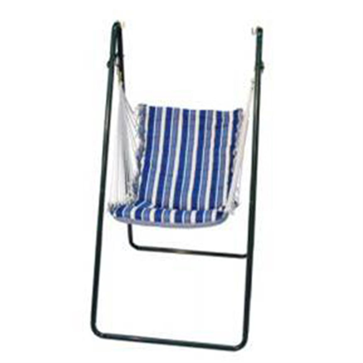 Algoma™ Swing Chair and Stand Combination, Blue Stripe / Blue