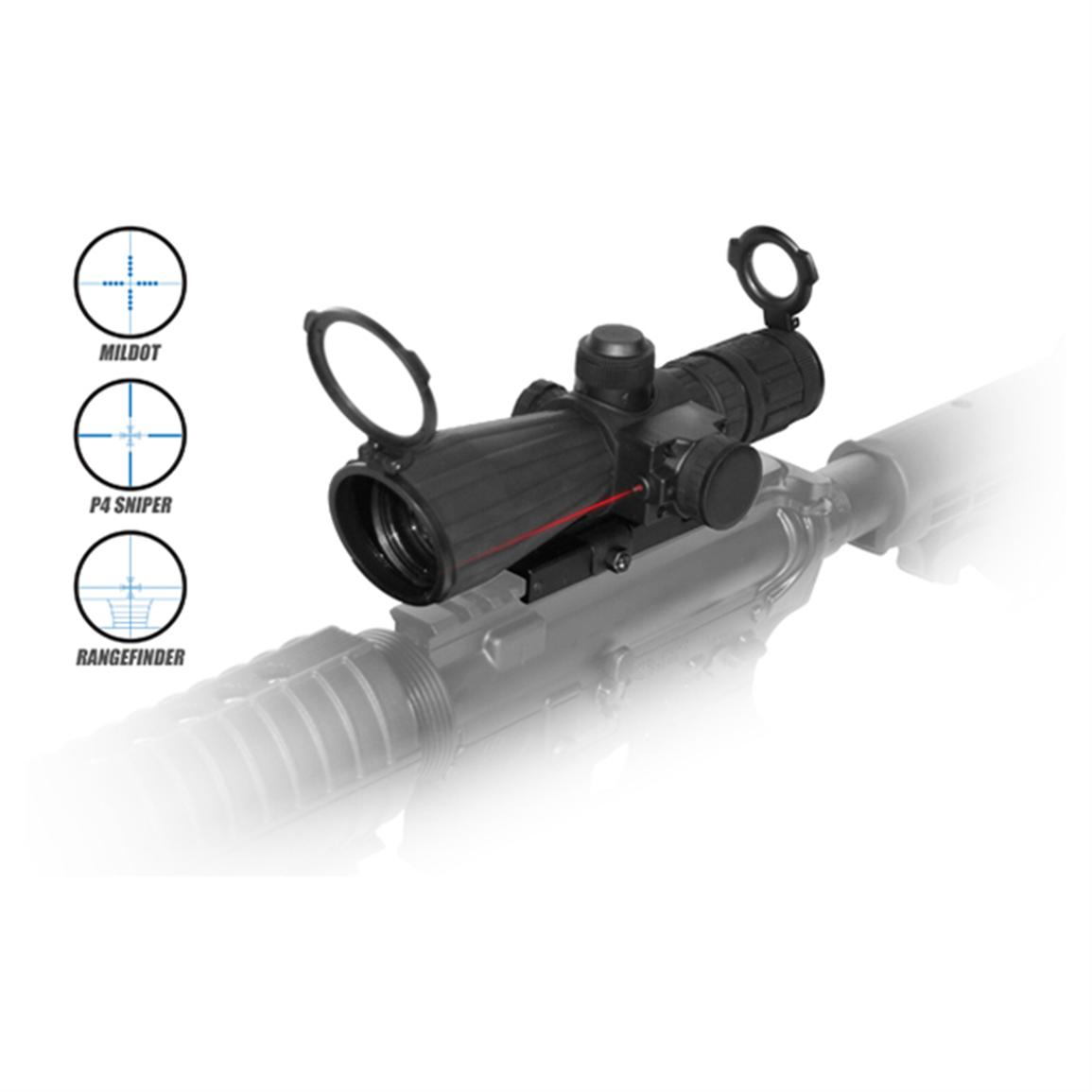 NcSTAR® 3-9x42 mm Mark III Rubber Tactical Scope with Integrated Laser