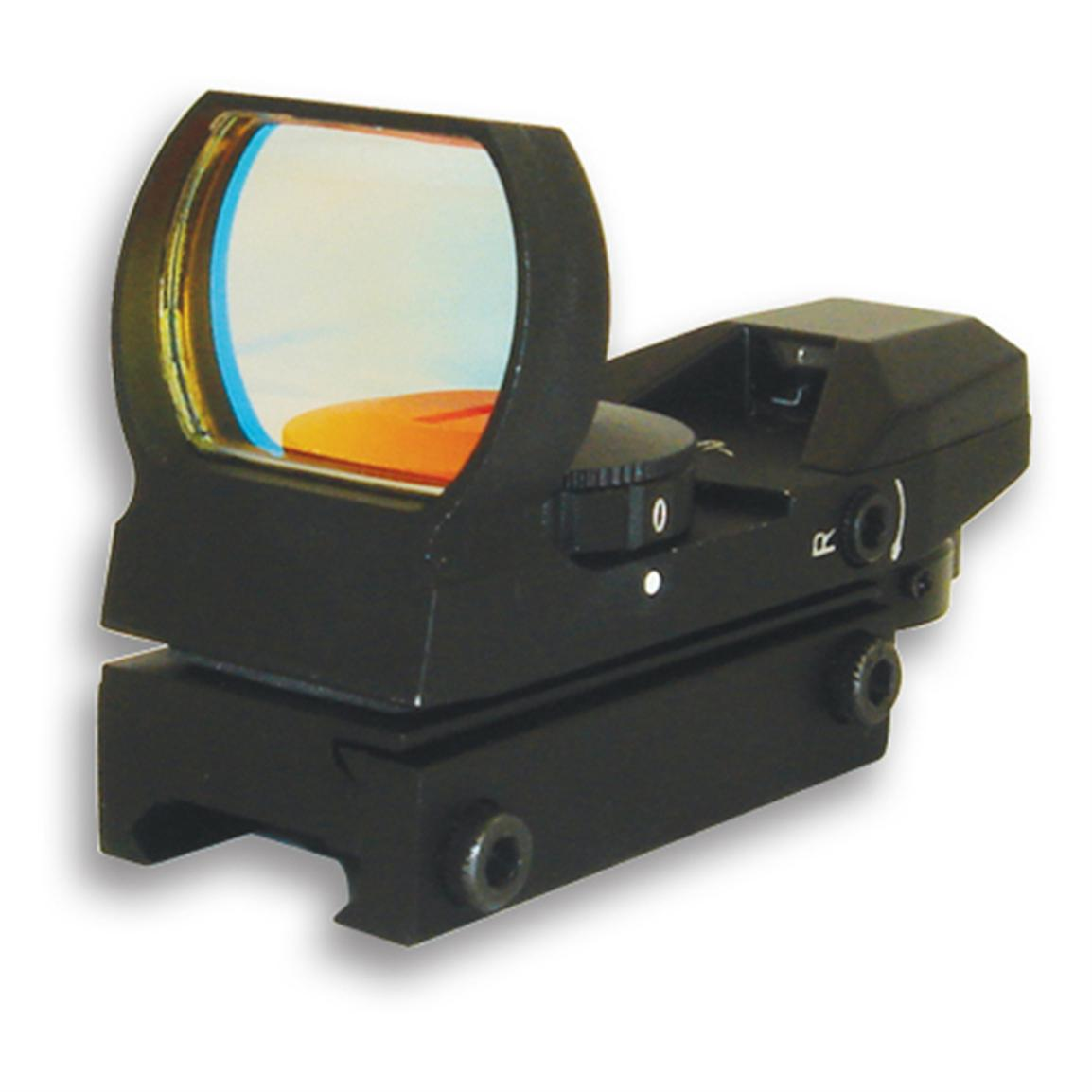NcSTAR® Red Dot Reflex Sight with 4 Different Reticles, Black