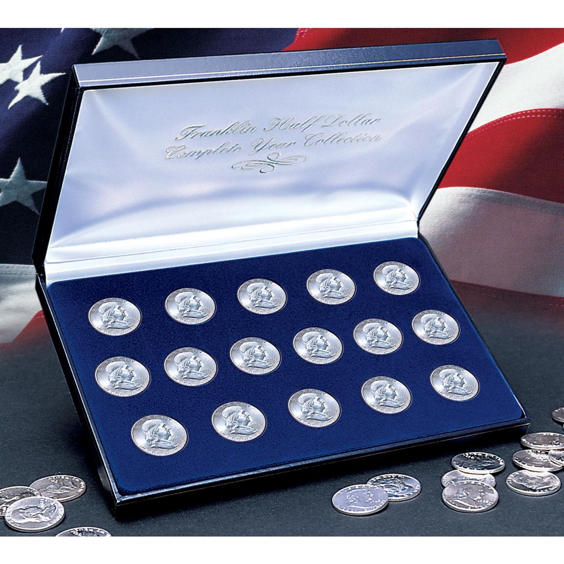 Complete Franklin Silver Half Dollar Collection (1948-1963) from Unified Precious Metals