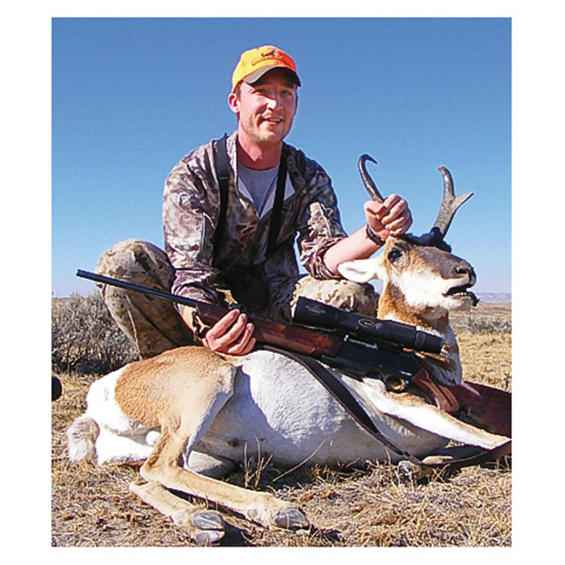 This antelope was shot at 673 yards using the Burris Eliminator