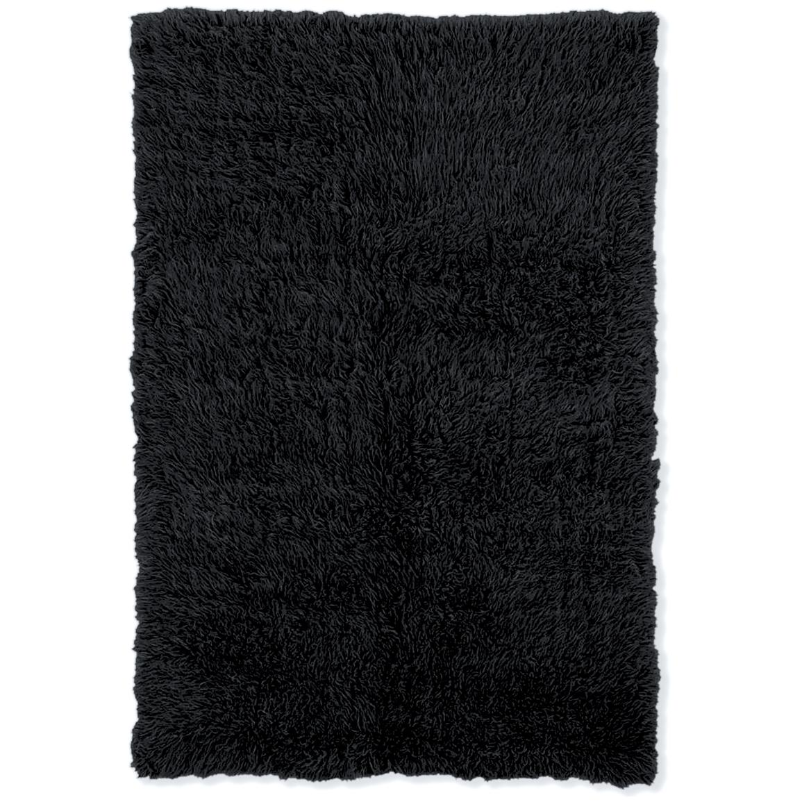Linon Home Decor, Inc. Flokati Collection Rug, Black