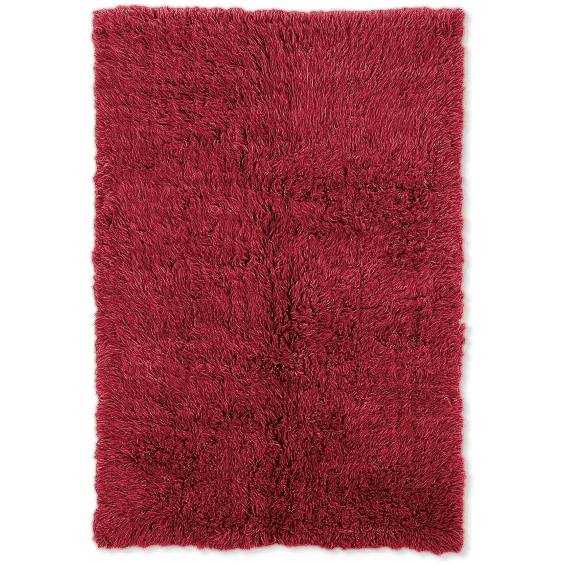 Linon Home Decor, Inc. Flokati Collection Rug, Red