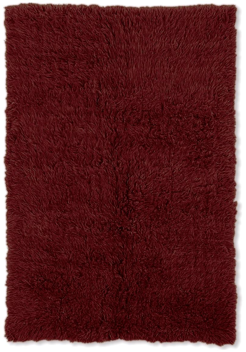Linon Home Decor, Inc. Flokati Collection Rug, Burgundy