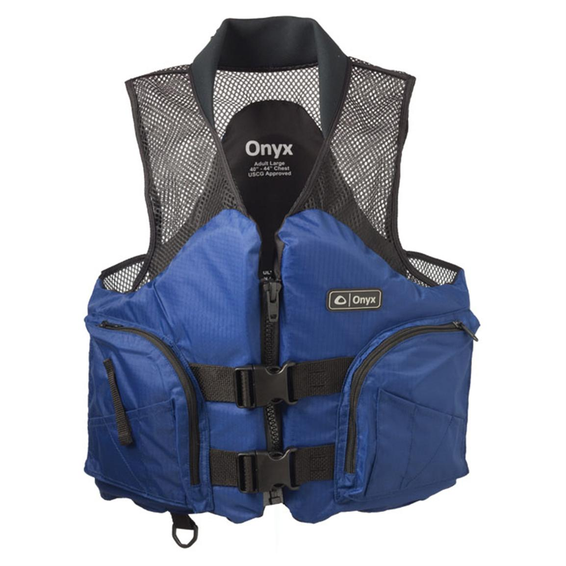 Onyx® Mesh Deluxe Adult Sports Vest, Blue