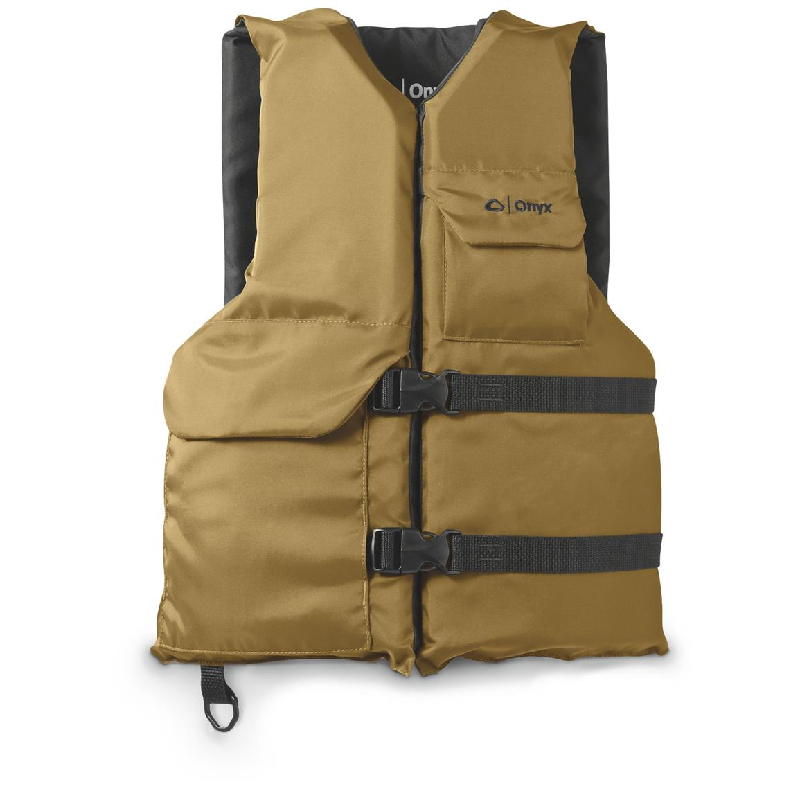 Onyx Adult Universal Sports Life Vest, Tan / Black