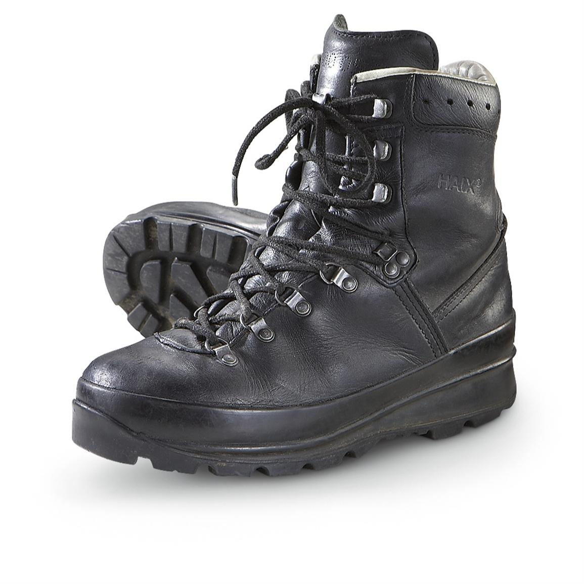 Men S Used German Military Mountain Boots Black 182645