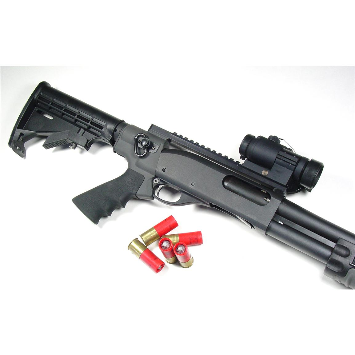Everything necessary to retrofit your Mossberg 500/590, Remington 870, or Winchester 1200/1300 12-ga.