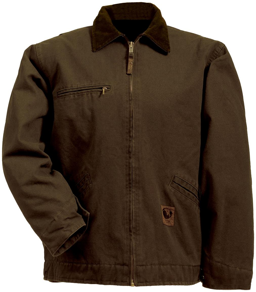 Berne Apparel® Fleece Lined Washed Gasoline Jacket, Bark