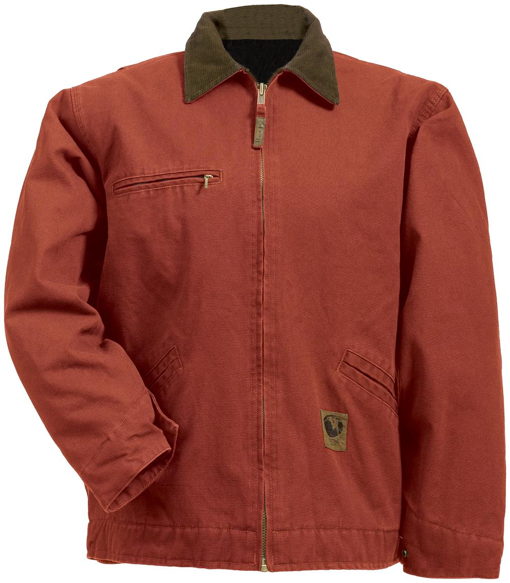 Berne Apparel® Fleece Lined Washed Gasoline Jacket, Sienna Red
